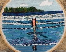 Hand Embroidery. Portrait. Landscape. Impressionism. Custom. Photo Embroidery. Wall Art. Keepsake. Hoop Art. Landscape Portrait. Art. Photo.
