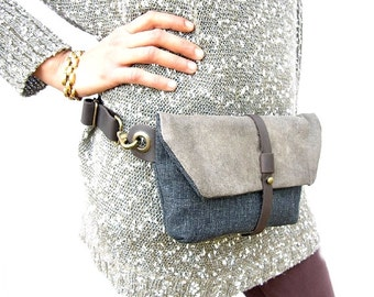 Hip Bag - Fanny Pack - Traveler Bag - Utility Hip Belt - Hip Pouch