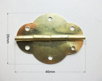 2 Pcs Brass Made Big Support Metal Hinges By Littlehardware