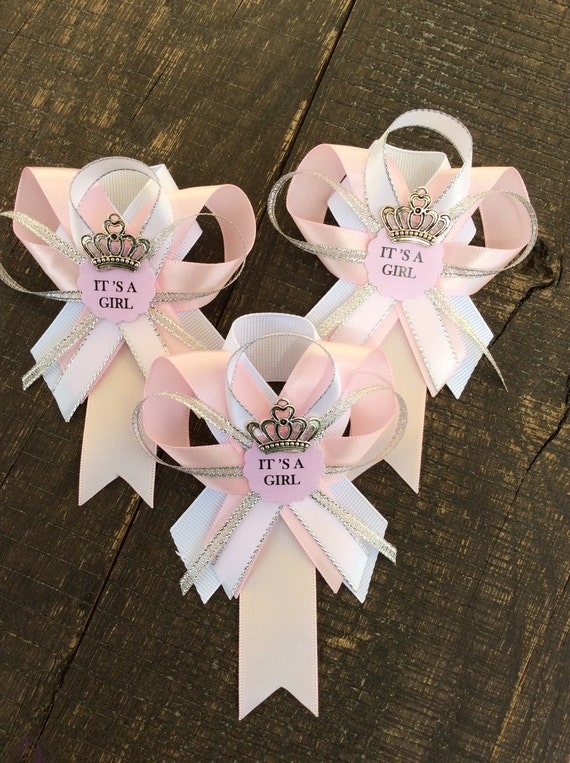 12 pink and silver guest pins for baby shower pink and silver baby