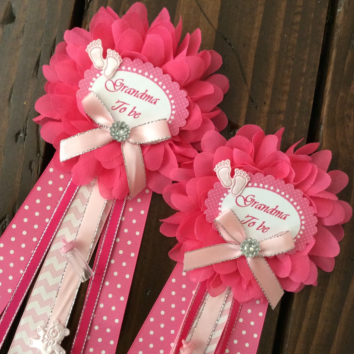 Set of 2 grandma pin in Pink Little princess baby shower