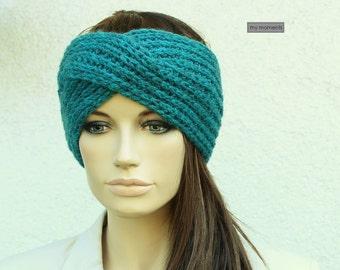 Headband / hair band Merino / Cashmere, petrol