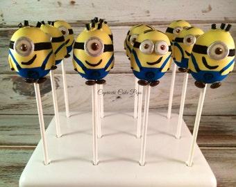 Minions birthday cake pops