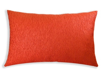 Orange Crinkled Breakfast Cushion