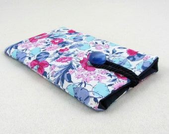 Liberty i phone sleeve, cotton phone case,  cellphone pouch, fabric phone case, padded phone cover