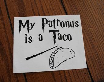 My Patronus is a Taco, Harry Potter Patronus Car Decal
