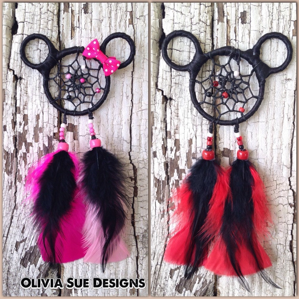mickey and minnie mouse dreamcatcher car charm mickey. Black Bedroom Furniture Sets. Home Design Ideas