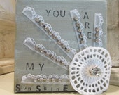 YOU ARE My SUNSHINE - 4 x 4 Canvas Art for Baby