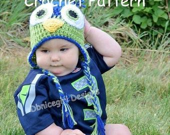 Crochet Pattern, Seahawks Hat, Bird Hat