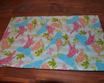 Baby Blanket- Baby Girl, Bird Baby Blanket, Receiving Blanket