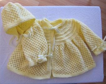 knit baby jacket etsy. Black Bedroom Furniture Sets. Home Design Ideas
