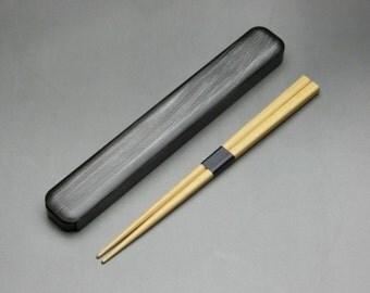 Japanese Lacquer Wooden Chopsticks and Chopsticks Box
