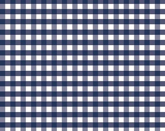 1/2 inch Blue & White Checked Gingham Cotton Fabric