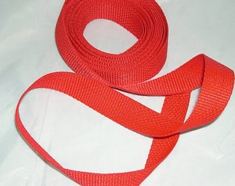 "1"" Polypropylene Webbing - Red"