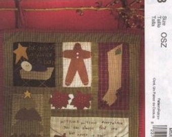 McCall's Crafts - M5203 - Winter Wall Hanging or Quilt Block and Quilt Pattern