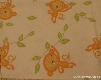 Flannel Fabric - Sweet Monkey - 1 yard - 100% Cotton Flannel