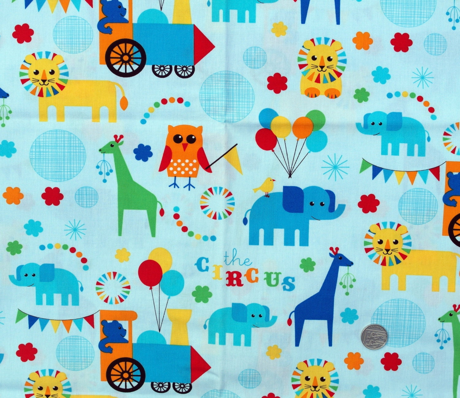 Fabric children 39 s novelty fabric circus animal by for Kids novelty fabric