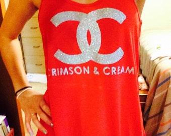 Crimson and Cream