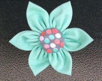 Mint Green Collar Flower