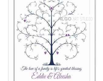 Fingerprint Guestbook, Thumbprint Tree, Wedding Fingerprint Tree, Retire Gift, Personalized Guest Book, Wedding Tree, Alternative Guest Book
