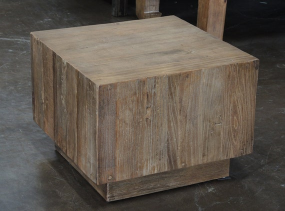 Reclaimed Wood Square Side Table By Terra Nova By Terranovala