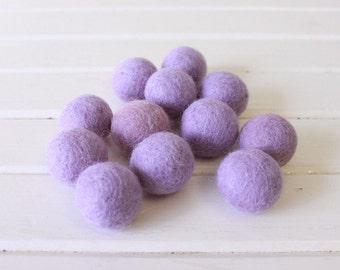 Lavender Felt Balls 12 count