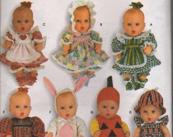 Simplicity Pattern 0683 Baby Doll Clothes Size Small and Medium