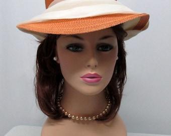 Vintage 60s Hat, Oleg Cassini 60s Straw Hat, 60s Brim Hat
