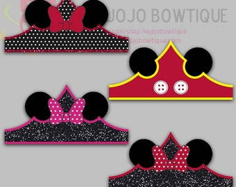 Mouse Paper Crown, Party Hat, Paper Tiara Printable for Mouse Party