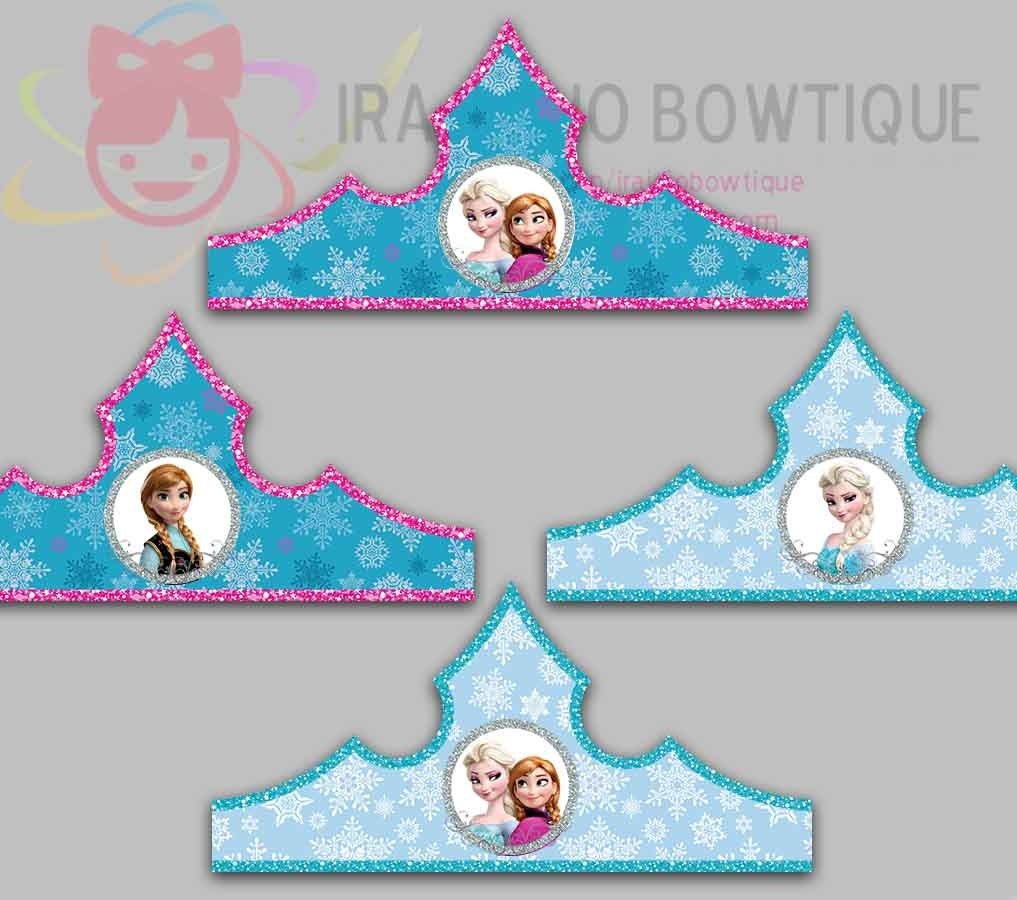 Crown Printable Frozen Blue