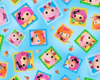 Per Yard, LaLa Loopsy Cute as a Button Patch Fabric From Quilting Treasures