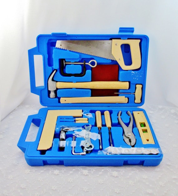 Toy Tools For Boys : Vintage tool kit child s boy real in case
