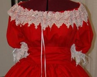 Venise Lace Civil War Reenactment Ladies 6 8 10 12 14 16 18 20 22 Juniors 3 5 7 9 Ball Gown Sizes Colors available