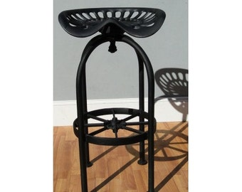 Best Tractor Bar Stool Seating with Foot Rest, Aluminum Wagon Wheel