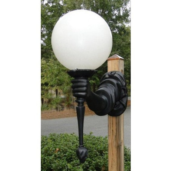 Outdoor Statue Of Liberty Arm With Torch Wall Light Sconce