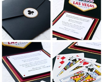 Las Vegas Theme Invitation