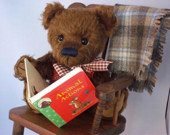 George, a handsome collectable mohair teddy bear.