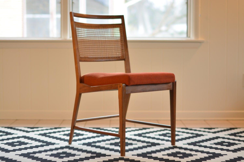 mid century side chair teak with cane back. Black Bedroom Furniture Sets. Home Design Ideas
