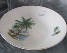 SALE ITEM Coral Island Bowl Tiki Design 1960s by Swinnertons Pottery of England