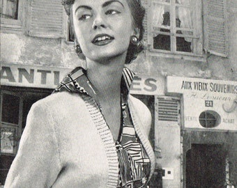 Ladies vintage retro Bolero and cardigan knitting pattern for modern knitting.  PDF Instant download