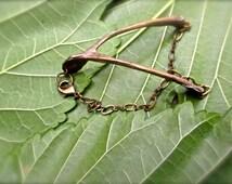 Bronze Wishbone Bracelet - Bone Jewelry