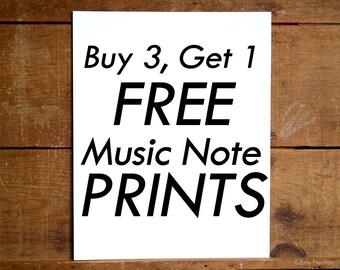 Music art prints,  BUY 3 GET 1 FREE Prints - 5x7, 8x10, 11x14 Fine art prints, Music art print,  Music art, Gifts for musicians