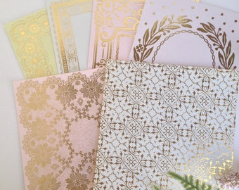 Anna Griffin Foil Stamped Card Stock Set 2