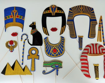Egyptian King Tut  Photo Booth Props walk like a Egyptian Party Photo booth Tutankhamen Museam Photo Booth Egypt scarab cat Pyramids