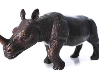 "Rhinoceros 12"" Vintage Bronze ""Rhino"" Sculpture"