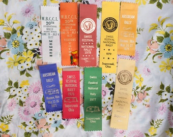 Vintage Airstream Rally Ribbons