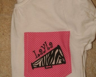 Girl's Appliqued Pocket Tee