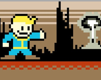 PATTERN - Fallout Inspired Cross Stitch