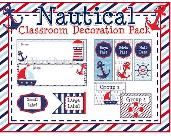 Nautical Classroom Decoration Pack