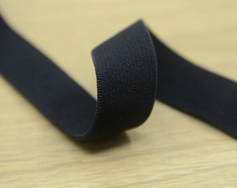 "3/4"" 20mm Wide Black Plush Comfortable Elastic , Elastic Band, Sewing Elastic 72170-1 Yard"